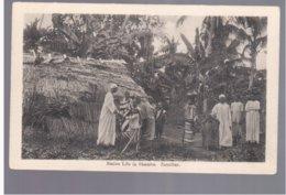 TANZANIA Zanzibar Native Life In Shamba Ca 1920 Old Postcard - Tanzania