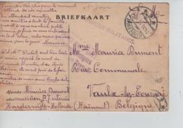 PR7436/ CP-BK S.M. PDG-POW Camp D'Harderwijk C.Harderwijk 14/11/18 Gff Mauve Censure Militaire > Vaulx-Lez-Tournai - Guerre 14-18