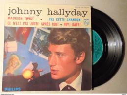 JOHNNY HALLYDAY MAXI SINGLE MADISON TWIST, PAS CETTE CHANSON... - 45 Rpm - Maxi-Single