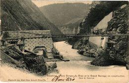 CPA Dauphiné - LesGorges Du Drac Et Le Grand Barrage En Construction (243976) - Autres Communes