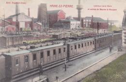 GARES Haine St Pierre Interieur De La Gare Et Usines De Baume Et Marpent - Stations With Trains
