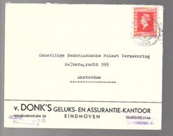 17.7.45 Van Donks GELUKS- En Ass. Kantoor Eindhoven Tramstraat 8 > Onderlinge Molestverzek. (oorlogsclaims)  (FJ-87) - 1891-1948 (Wilhelmine)