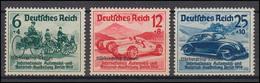 695-697 Nürburgring-Rennen Mit Aufdruck, Komplett, Satz Mit Falzrest * - Germania