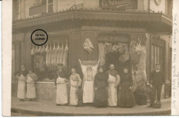 BOIS COLOMBES. Devanture De La Boucherie VERNILLET, 95 Rue Des Aubépines. - France