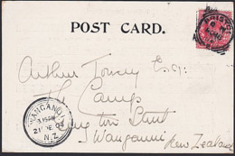 GB - NEW ZEALAND 1904 CHRISTMAS CAROL POSTCARD BRISTOL SQUARE CIRCLE - 1902-1951 (Kings)