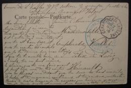 Granges (Vosges) 1915 G.V.C Section G Groupe 1 + Convoyeur Gerardmer à Laveline Pour Saint Felix De Lodez - Marcophilie (Lettres)
