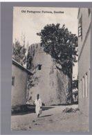 TANZANIA Zanzibar Old Portuguese Fortress Ca 1920 Old Postcard - Tanzania