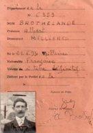 Carte D'invalidité Définitive Attribuée à........... Albert De Millieres - Other
