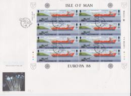 Isle Of Man 1988 FDC Europa CEPT Complete Sheet  (L76-10) - Europa-CEPT