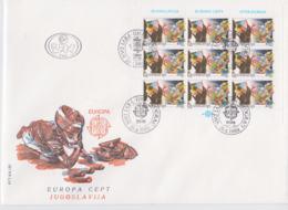 Yugoslavia 1989 FDC Europa CEPT Complete Sheet (L76-10) - Europa-CEPT