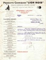 Produits Chimiques LION NOIR ECLIPSE VOIR ZOOM Département Lion Noir Grande Rue à 92 Montrouge Lettre De 1939 - Drogisterij & Parfum