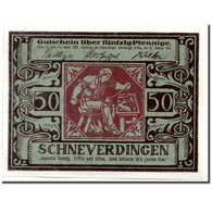 Billet, Allemagne, Schneverdingen, 50 Pfennig, Personnage, 1921, 1921-02-25 - Allemagne