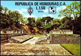 Honduras 1977 ** Bl.29  Sculpture Skulpturen Maya Kultur Archäologie Archaeology - Archaeology