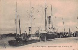 PORT LOUIS  -  Vapeurs De LORIENT Et De L'ile De GROIX (edts HLM ) - Port Louis