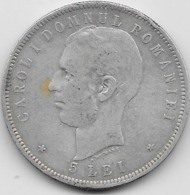 Roumanie - 5 Lei - 1906 - Argent - Roumanie