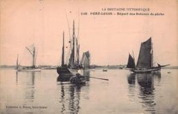 PORT LOUIS  -  Départ Des Bateaux De Peche (edt Waron  5141 ) - Port Louis