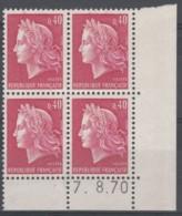 N° 1536 B Daté 07/08/70 - X X - - Hoekdatums