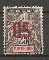 MART - Yt. N° 79   * 05 S 25c   Cote  2  Euro  BE - Martinique (1886-1947)