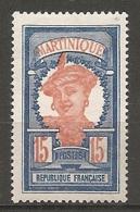 MART - Yt. N° 120   *   15c  Cote  2  Euro  BE   2 Scans - Martinique (1886-1947)