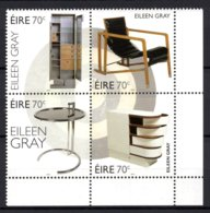 Ireland Eire Ierland 2015 R MNH Serie Eileen Gray Designer Architect Art Chair Closet Table Kunst Design искусство Arte - Other