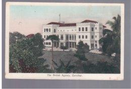 TANZANIA  Zanzibar, The British Agency Ca 1916 Old Postcard - Tanzania