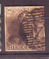 Belgique - Leopold 1er- Epaulettes  - N°1 Oblitéré - 1849 Schulterklappen