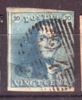 Belgique - Leopold 1er- Epaulettes  - N°2 Oblitéré - 1849 Mostrine