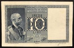 10 LIRE IMPERO 1939  LOTTO 443 - [ 1] …-1946 : Regno