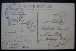 Vilgenis G.V.C Secteur B Section H G.M.P Cpa De La Buvette De La Gare Saint Rémy Les Chevreuse Cad Verrières Le Buisson - Marcophilie (Lettres)