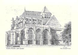 [35] Ille Et Vilaine > REDON Saint Sauveur  (Abbaye) CPM   Illustration DUCOURTIOUX N °3510 *PRIX FIXE - Redon