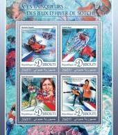 DJIBOUTI 2016 - Olympic Games In Sochi - YT 1136-9; CV=21 € - Winter 2014: Sochi