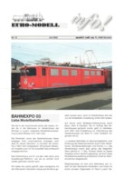 Catalogue EURO-MODELL MODEL RAIL AG Juli 2002 Info N.12  0 0m 1:45 Brochure - German