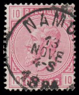 "COB N° 38 - Belle Oblitération S.C. ""NAMUR"" - 1869-1883 Léopold II"