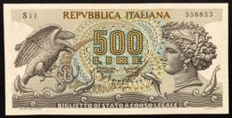 500 LIRE ARETUSA 20 06 1966 SUP S11 558833 LOTTO 496 - [ 2] 1946-… : Républic
