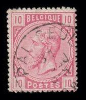 """COB N° 38 - Belle Oblitération S.C. """"PALISEUL"""" - 1869-1883 Leopold II."""