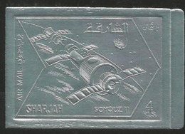 Sharjah,Soyuz XI 1972.,silver-imperforated,MNH - Sharjah