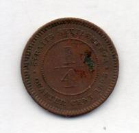 BRITISH INDIA - STRAITS SETTLEMENTS, 1/4 Cent, Bronze, 1898, KM #14 - Indien