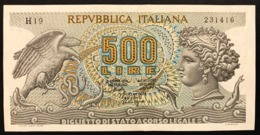 500 Lire Aretusa 20 10 1967 Spl+   LOTTO 560 - [ 2] 1946-… : République