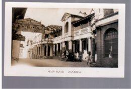 TANZANIA Zanzibar, Main Road Ca 1920  Old Photo Postcard - Tanzania