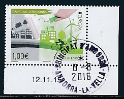 ANDORRA (franz.) Mi.NR. 804 Europa - Umweltbewusst Leben -2016- Used - 2016