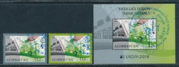 ASERBAIDSCHAN Mi.NR. 1140-1141 A, Block 164 A  Europa - Historisches Spielzeug -2015 - Used - 2016
