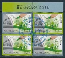ASERBAIDSCHAN Mi.NR. 1140-1141 D Europa - Umweltbewusst Leben -2016- Used - 2016