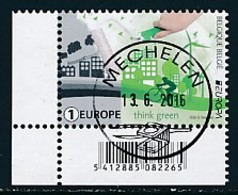 BELGIEN Mi.NR. 4649 Europa - Umweltbewusst Leben -2016- Used - 2016