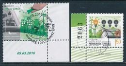 BOSNIEN- HERZEGOWINA ( Serbische Rep.) Mi.NR. 677-678 A, HBl 19  Europa - Umweltbewusst Leben -2016- Used - Europa-CEPT