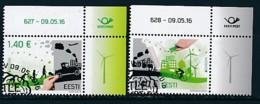 ESTLAND Mi.NR. 861-862 Europa - Umweltbewusst Leben -2016- Used - Europa-CEPT