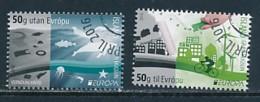 ISLAND Mi.NR 1493-1494 Europa - Umweltbewusst Leben -2016- Used - 2016