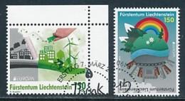 LIECHTENSTEIN Mi.NR 1790-1791 Europa - Umweltbewusst Leben -2016- Used - 2016
