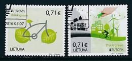LITAUEN Mi.NR 1217-1218 Europa - Umweltbewusst Leben -2016- Used - 2016