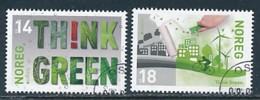 NORWEGEN Mi.NR 1912-1913 Europa - Umweltbewusst Leben -2016- Used - Europa-CEPT