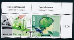 SCHWEIZ Mi.NR. 2452-2453 Europa - Umweltbewusst Leben -2016- Used - Europa-CEPT